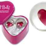 Bolas chinas de cristal en cajita de corazón
