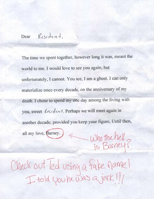 La carta de Barney Stinson