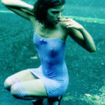Gabriela y su vestido celeste